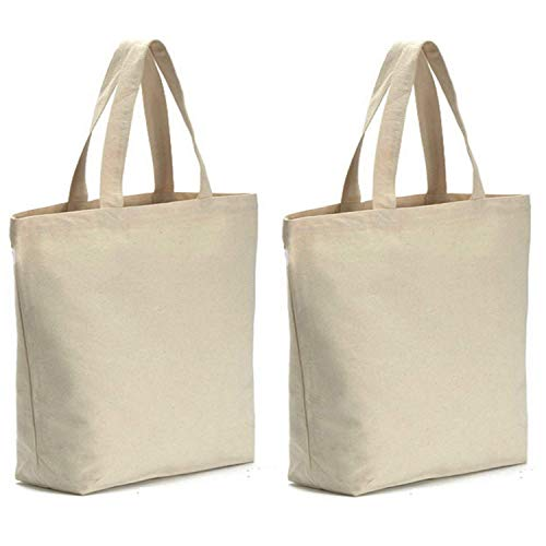 Axe Sickle 2PCS Canvas Tote Bag Bottom Gusset 14.5 X 14.5 X 5 inch Heavy 12oz Tote Shopping Bag, Washable Grocery Tote Bag, Craft Canvas Bag, White.