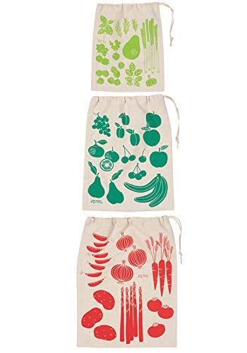 Now Designs Produce Bags Reusable Unbleached Cotton, Shop Local