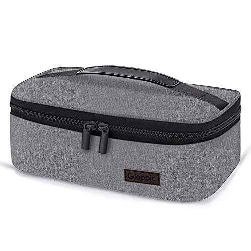 Gloppie Small Lunch Bag Mini Lunch Box Insulated Lunch Bag for Men Women Petty Lunch Box for Kids Adult Portable Lunch Pail Thermal Lunch Containers Reusable Snack Bags Loncheras Para Hombres Grey