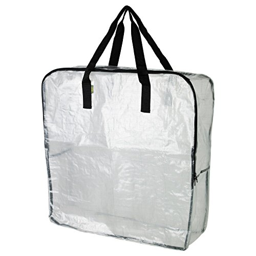 IKEA Extra Large Clear Storage Bag for Clothing Storage, Under the Bed Storage, Garage Storage, Recycling Bags (1)