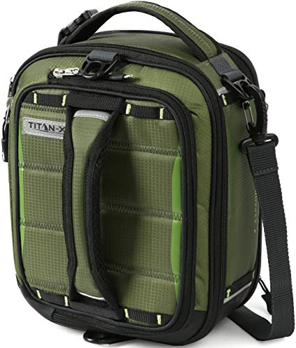 Arctic Zone Titan X Fridge Cold Dual Compartment Expandable Insulated Lunch Pack with 3X 250g High Performance Ice Walls, Olive Green