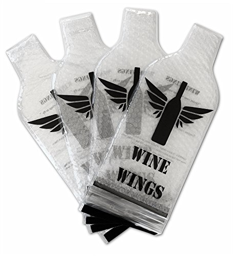 Upgraded 4 Pack Wine Wings Reusable Bottle Protector Sleeve Travel Bag Luggage Leak Safe
