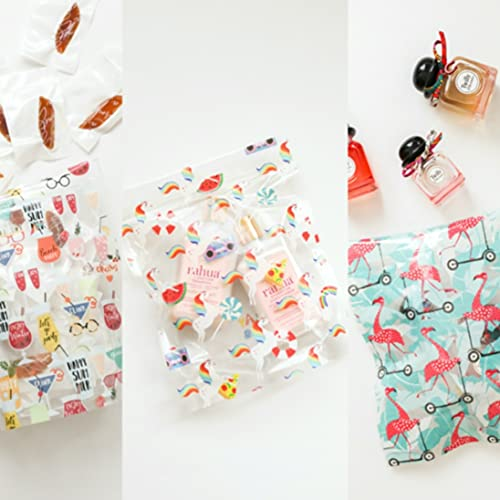 PLAY BAG Reusable Sandwich & Snack Bags- Set of 9 Cute, Stylish Resealable Storage Bags in 3 Unique Patterns (Medium)