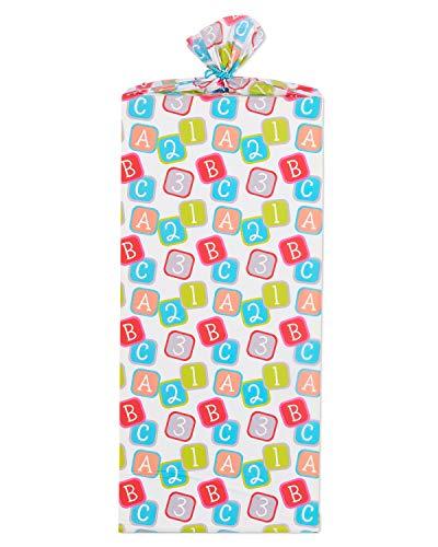 American Greetings Jumbo Plastic Bag Bottle, 1-Count, Baby Blocks
