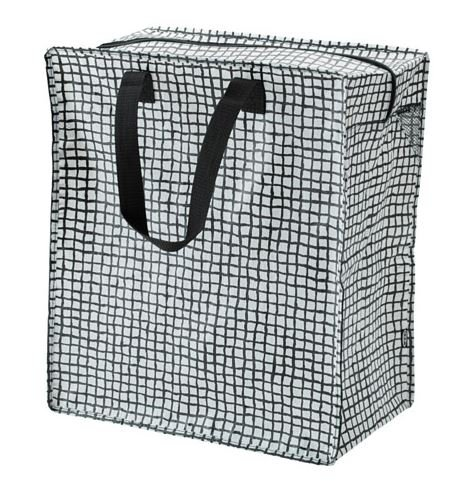 IKEA KNALLA REUSALE Grocery Bag with Zip (Black with White DOT)|12 Gallon| Set of 2 003.304.87, Red